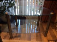 Glass two tier TV Table