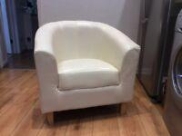 Tub chair. Cream