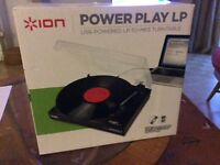 ION Power Play LP USB powered LP to MP3 turntable