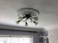 Pair of ceiling lights, 5 lamps per light in really good condition
