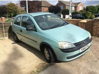 CORSA 1 litre drives great only one owner from new quick sale £195