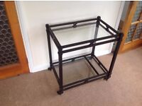 Contemporary drinks trolley/lamp table