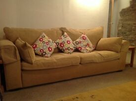 Three seater Collins and Hayes sofa in excellent condition.