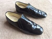 Pair of Men's Patent Leather Ballroom Dance Shoes Size 10.