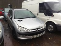 2003 PEUGEOT 206 SW HDI 1.4 DIESEL BREAKING FOR PARTS ONLY POSTAGE AVAILABLE NATIONWIDE