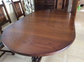 OLD CHARM WOOD BROS LANCASTER DINING TABLE