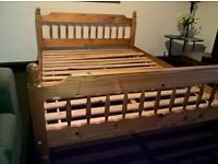 Double bed solid pine wood ( Free delivery see description)