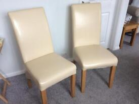 Faux leather chairs x4 £25 each will sell in pairs