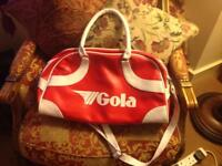 Red & white Gola bag