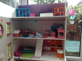 Doll house and doll house furniture