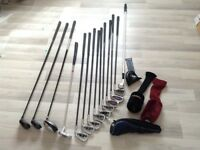 Golf clubs + trolley