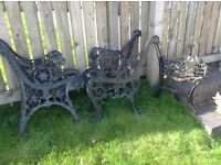 Winter Project - Reclamation Cast Iron Benches and Table Ends - Everything Must Go