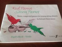 Red Parrot Green Parrot, for young violin players.