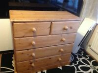 Solid pine chest of 8 dove tailed drawers - can delivery locally