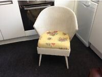 Cottage chic beautiful unusual lloyd loom chair nursing chair bedroom chair