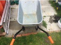 Galvanised b and q wheelbarror