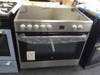 Beko 90cm single oven range cooker. Stainless steel. New/graded 12 month Gtee