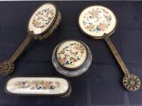 Vintage Four Piece Dressing Table Set