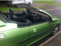 Peugeot 206cc in very good condition fr year open to reasonable offers