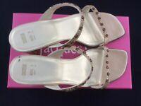 M&S ladies Sandals -Gold Size UK 7