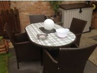 Rattan garden furniture/both sets SOLD subject to collection