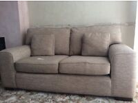 2 x Two Seater Sofas with matching cushions