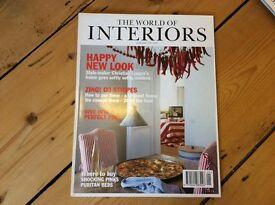 The world Of interiors magazine 1996