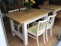 Rustic farmhouse table and chairs