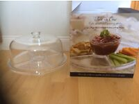 Lakeland cake stand can be used as a serving platter for dips