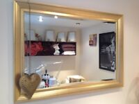 Large gold mirror, excellent condition.