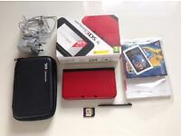 Nintendo 3ds XL *FREE P&P* Red and black
