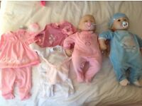 Baby annabel and brother dolls plus clothes worth over £100