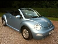 vw beetle 1.4 convertible 53 reg power steering, cd player, electric windows, mot april 2017,