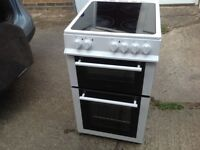 Double oven electric cooker ceramic hob