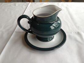 Denby Greenwich sauce jug and saucer