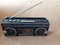 ROBERTS radio RSR 55 AM /FM 3 band radio with cassette recorder
