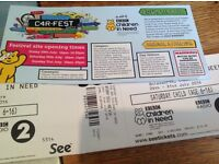 Carfest North tickets, Saturday 30th July. 2 adults and 2 children.