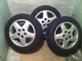 3 x ORIGINAL SPECIFICATION Wheels & Tyres for Nissan 200SX 1997