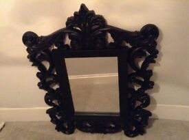 Black Rocco Ornate Mirror £40