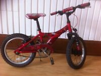 "Boys bike - fully refurbished 16"" wheels, single speed. With stand. 4-6 years"