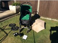 Bugaboo Cameleon - pram, buggy, travel system. Boy, girl unisex. Good condition with extras.