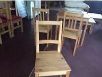 IKEA pine kitchen chairs