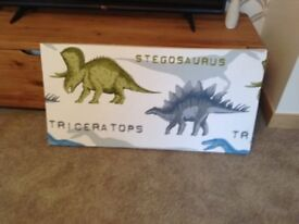 Large hand made dinosaur picture