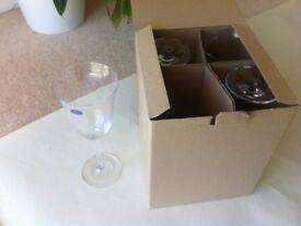 Bohemian Crystal Set of 4 Wine Crystal Glasses