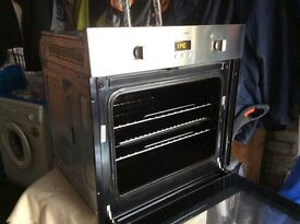 Hotpoint stainless steel fan oven grill