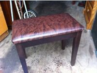 Modern wide dressing table stool
