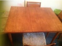 1950s dinning room table and 4 chairs