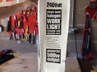 240 volt single head halogen work light