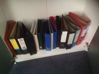 12 ring binders plus 12 lever arch files