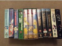 Assorted vhs videos for sale job lot or will separate